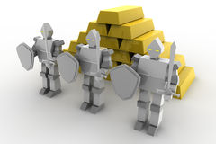χρυσή ασφάλεια διανυσματική απεικόνιση
