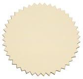 Χρυσή αυτοκόλλητη ετικέττα φύλλων αλουμινίου Στοκ Εικόνες