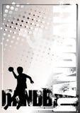 χρυσή αφίσα χάντμπολ 3 ανασ&kappa διανυσματική απεικόνιση