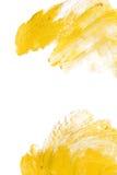 Χρυσή αφηρημένη απεικόνιση λεκέδων χρωμάτων σύστασης watercolor Να λάμψει κτύπημα βουρτσών για σας καταπληκτικό πρόγραμμα σχεδίου Στοκ εικόνα με δικαίωμα ελεύθερης χρήσης