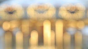 Χρυσή αφηρημένη θαμπάδα φω'των απόθεμα βίντεο