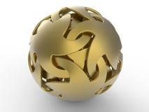 Χρυσή αφηρημένη μορφή σφαίρα-αστεριών απεικόνιση αποθεμάτων