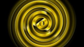 Χρυσή αφηρημένη τηλεοπτική ζωτικότητα στροβίλου απεικόνιση αποθεμάτων