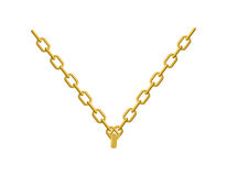 Χρυσή αλυσίδα στο κόσμημα λαιμών του Βοηθητικό πολύτιμο κίτρινο μέταλλο απεικόνιση αποθεμάτων