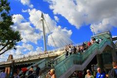 Χρυσή γέφυρα Λονδίνο ιωβηλαίου Στοκ φωτογραφίες με δικαίωμα ελεύθερης χρήσης