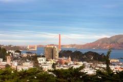 Χρυσή γέφυρα πυλών και βόρεια πλευρά του Σαν Φρανσίσκο Στοκ Εικόνες