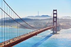 Χρυσή γέφυρα πυλών στο Σαν Φρανσίσκο, Καλιφόρνια, ΗΠΑ Στοκ Εικόνες