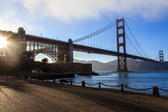 Χρυσή γέφυρα πυλών Στοκ Εικόνες