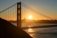 Χρυσή γέφυρα πυλών στο Σαν Φρανσίσκο, ΗΠΑ Στοκ Εικόνα