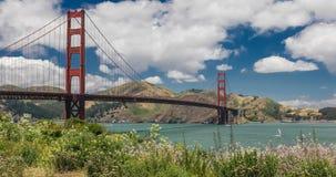 Χρυσή γέφυρα πυλών στο Σαν Φρανσίσκο, Καλιφόρνια, ΗΠΑ απόθεμα βίντεο