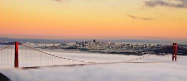 Χρυσή γέφυρα πυλών του Σαν Φρανσίσκο Στοκ Φωτογραφία
