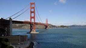 Χρυσή γέφυρα πυλών του Σαν Φρανσίσκο απόθεμα βίντεο