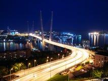 Χρυσή γέφυρα του Βλαδιβοστόκ Στοκ εικόνες με δικαίωμα ελεύθερης χρήσης