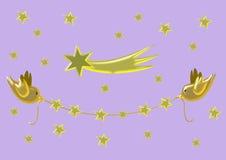 Χρυσή γιρλάντα Χριστουγέννων Στοκ εικόνα με δικαίωμα ελεύθερης χρήσης