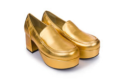 χρυσή γυναίκα παπουτσιών στοκ φωτογραφίες με δικαίωμα ελεύθερης χρήσης