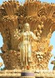 χρυσή γυναίκα Στοκ εικόνα με δικαίωμα ελεύθερης χρήσης