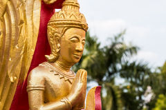 Χρυσή γωνία στο ναό Ubonratchathani Ταϊλάνδη Στοκ εικόνες με δικαίωμα ελεύθερης χρήσης