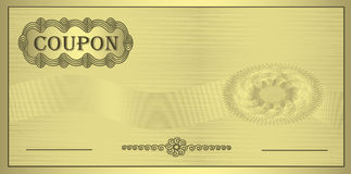 χρυσή διακόσμηση δελτίων Στοκ Φωτογραφίες