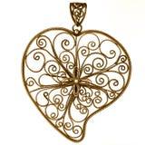 χρυσή διακόσμηση καρδιών που διαμορφώνεται Στοκ Φωτογραφία