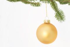χρυσή διακόσμηση Χριστουγέννων Στοκ εικόνες με δικαίωμα ελεύθερης χρήσης