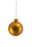 χρυσή διακόσμηση Χριστο&upsilon Στοκ φωτογραφία με δικαίωμα ελεύθερης χρήσης