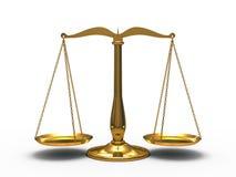 Χρυσή δικαιοσύνη κλιμάκων διανυσματική απεικόνιση