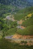 Χρυσή εθνική οδός αλυσίδων, μέσω της χρυσής χώρας Καλιφόρνιας Στοκ Εικόνα