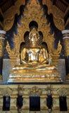 χρυσή εικόνα κοντινότερη ρηχή Ταϊλάνδη εστίασης πεδίων ματιών βάθους του Βούδα Στοκ εικόνα με δικαίωμα ελεύθερης χρήσης