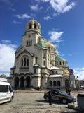 Χρυσή εκκλησία Nevski Sveti ivan στη Sofia Βουλγαρία Στοκ Φωτογραφίες