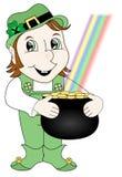 χρυσή εκμετάλλευση leprechaun ελεύθερη απεικόνιση δικαιώματος