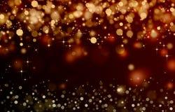 Χρυσή εορταστική φαντασία Στοκ Εικόνα