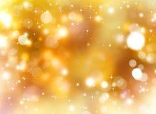 Χρυσή εορταστική φαντασία Στοκ Φωτογραφία