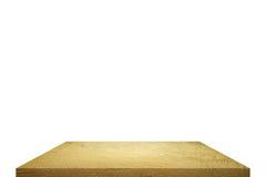 Χρυσή επιτραπέζια κορυφή στην απομόνωση Στοκ Εικόνα