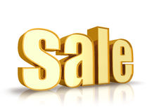 χρυσή ετικέττα πώλησης Στοκ εικόνες με δικαίωμα ελεύθερης χρήσης