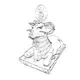 Χρυσή ζωική νεράιδα αγαλμάτων προβάτων Στοκ εικόνα με δικαίωμα ελεύθερης χρήσης
