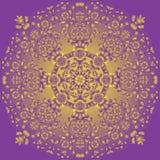 Χρυσή διακόσμηση άμπωτης στοκ φωτογραφία με δικαίωμα ελεύθερης χρήσης