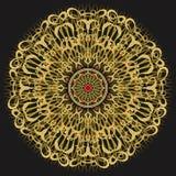 Χρυσή διακόσμηση mandala Στοκ φωτογραφίες με δικαίωμα ελεύθερης χρήσης