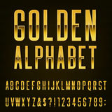 Χρυσή διανυσματική πηγή αλφάβητου Στοκ Εικόνα