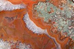 Χρυσή διαφορετική ορυκτή επιφάνεια αχατών Στοκ Εικόνες