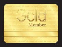 Χρυσή κάρτα λεσχών μελών με το μικρό σχέδιο αστεριών διανυσματική απεικόνιση