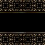 Χρυσή κάρτα στο μαύρο υπόβαθρο Στοκ Εικόνες