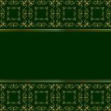 Χρυσή κάρτα στο πράσινο υπόβαθρο Στοκ εικόνες με δικαίωμα ελεύθερης χρήσης