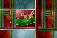 Χρυσή κάρτα Χριστουγέννων ελαιόπρινου Στοκ εικόνες με δικαίωμα ελεύθερης χρήσης