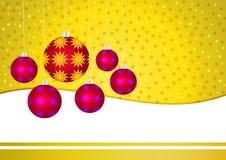 Χρυσή κάρτα Χριστουγέννων απεικόνιση αποθεμάτων