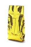 Χρυσή κίτρινη σακούλα αργιλίου Στοκ φωτογραφία με δικαίωμα ελεύθερης χρήσης