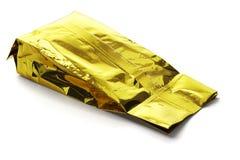 Χρυσή κίτρινη σακούλα αργιλίου Στοκ Εικόνες