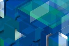 Χρυσή και άσπρη σύνθεση για τον μπλε τοίχο ελεύθερη απεικόνιση δικαιώματος