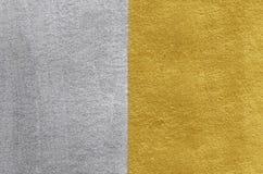 Χρυσή και ασημένια σύσταση φύλλων αλουμινίου αφηρημένη ανασκόπηση χρυσή Στοκ Εικόνα