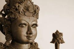 Χρυσή και γκρίζα ινδή θεά Kali που απομονώνεται Στοκ φωτογραφία με δικαίωμα ελεύθερης χρήσης