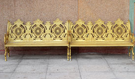 Χρυσή καρέκλα στο πάρκο Στοκ Εικόνα